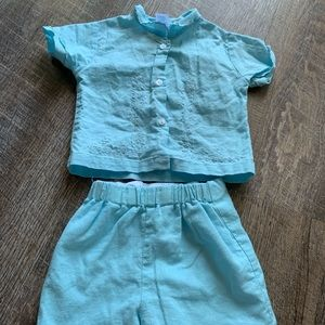 Baby boy baptism outfit 0-3 months